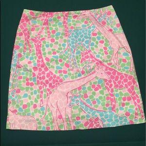Lilly Pulitzer Giraffe Skirt - Size 8